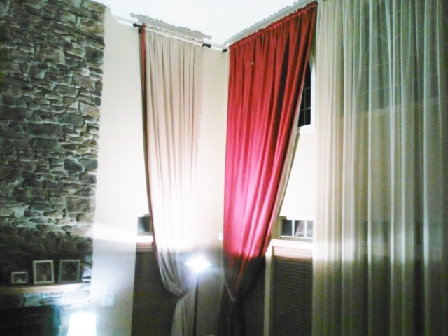 Custom Two Story Full Length Drapes