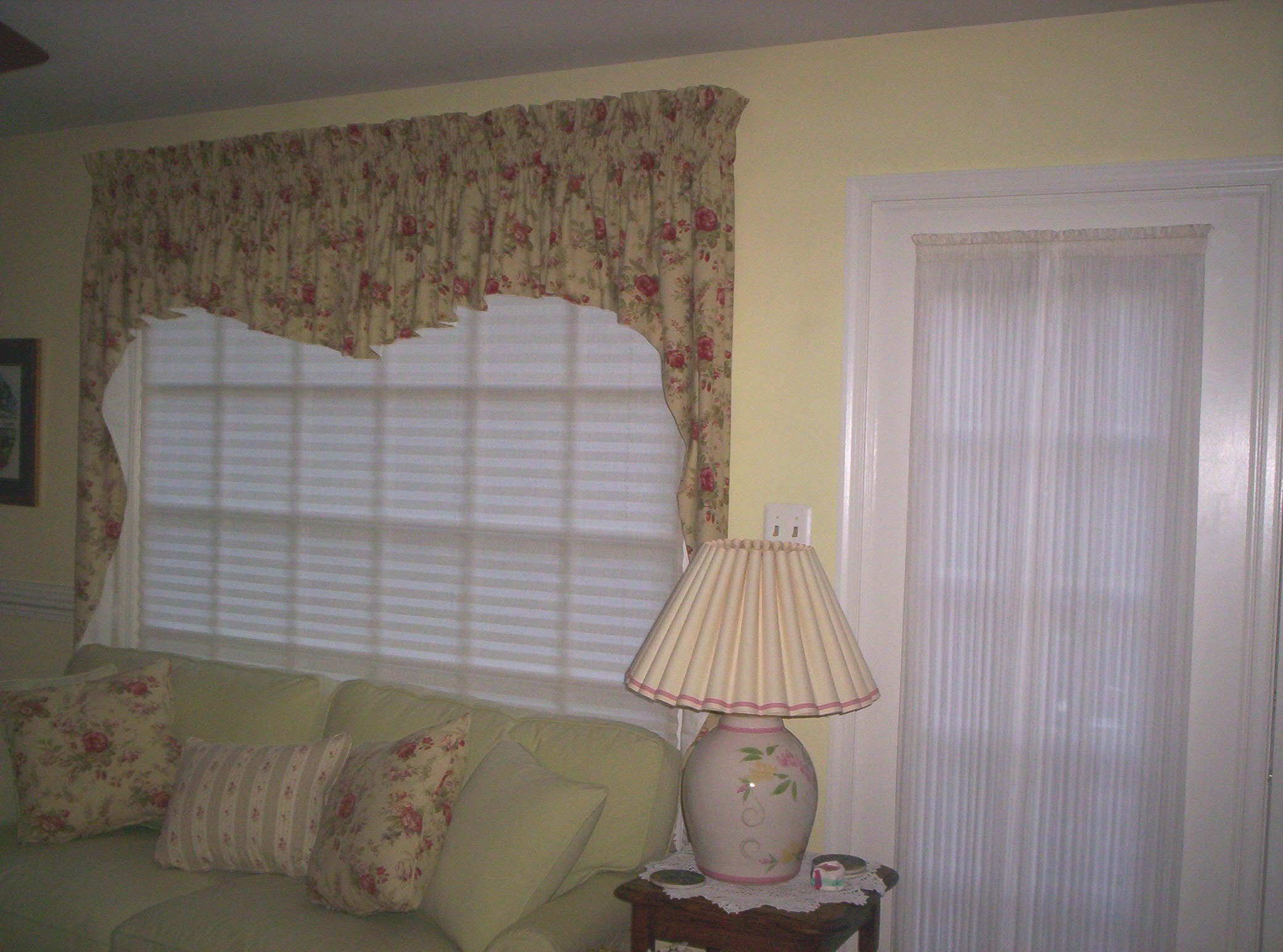 valance in living room