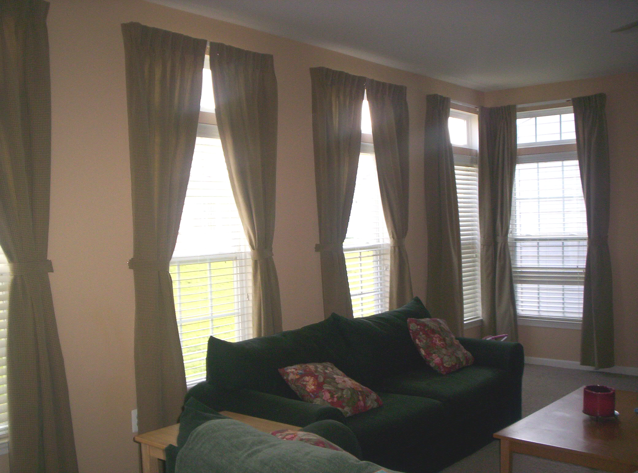 pinch pleat in family room