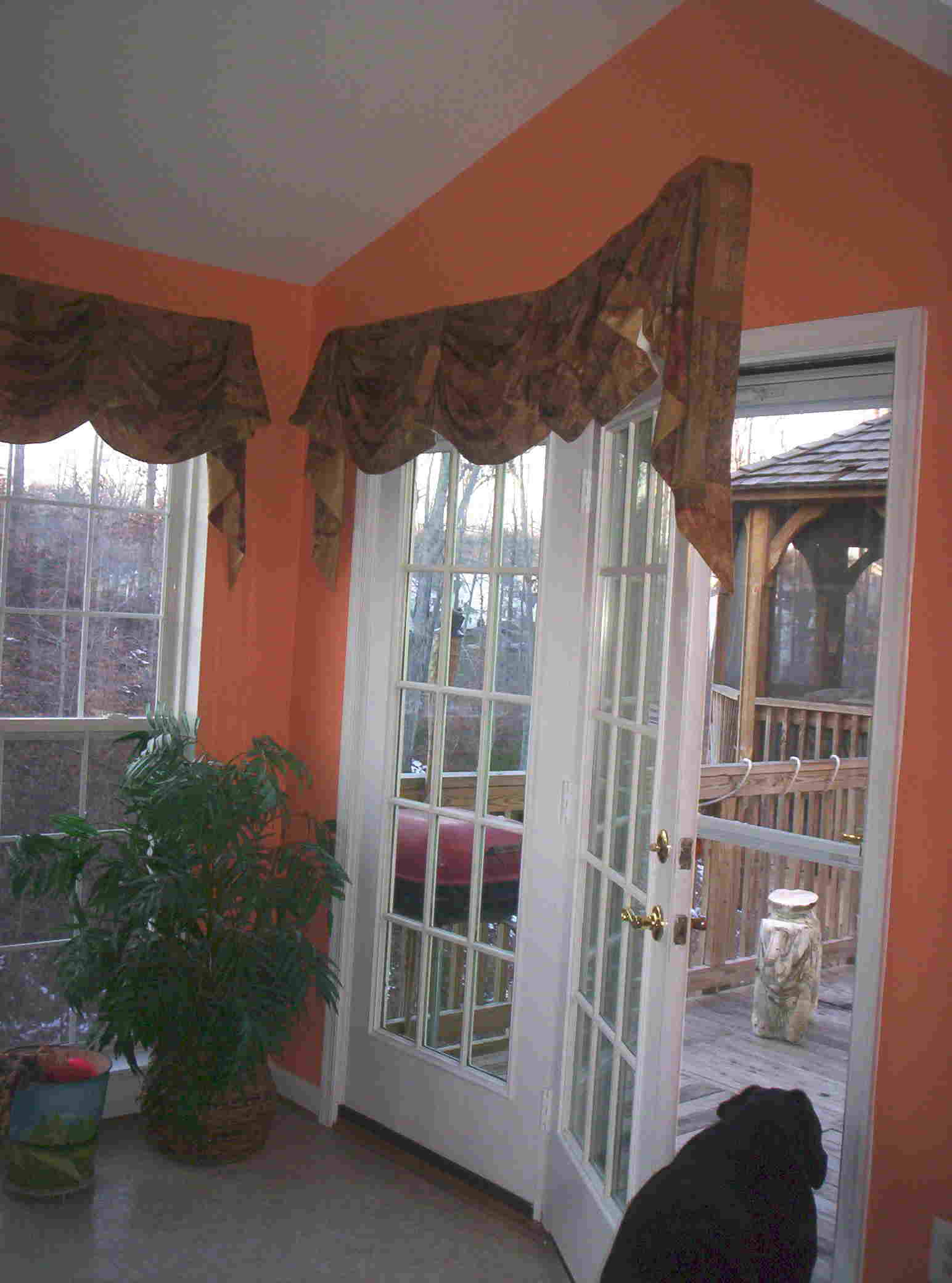 kingston valance over french doors